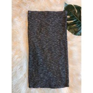 Rolla Coster | Gray Knit Midi Skirt